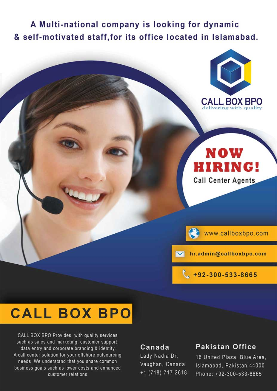 call center islamabad job hiring csr call box bpo. Black Bedroom Furniture Sets. Home Design Ideas